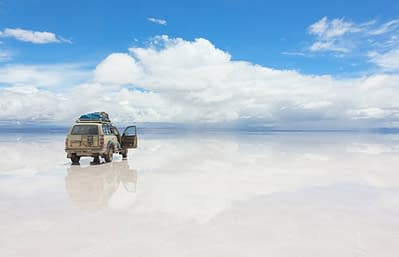 Jeep bei einer Bolivien Reise