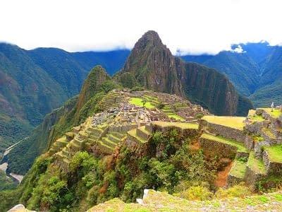 Blick auf den Machu Picchu in Peru