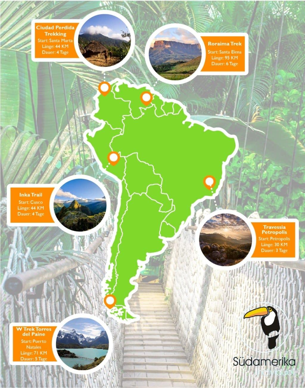 Die 5 schönsten Trekkingtouren in Südamerika 7